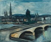 le pont corneille de rouen by maurice de vlaminck