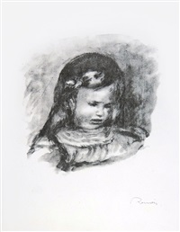 claude renoir, la tête baissée (claude renoir, head lowered) by pierre-auguste renoir