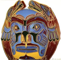 northwest coast mask (fs ii.380) by andy warhol