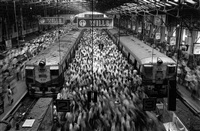 church gate station, bombay, india, 1995 by sebastião salgado