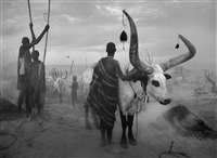 dinka cattle camp of kei, southern sudan, 2006 by sebastião salgado