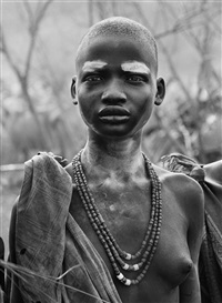 dinka girl at kolkuei cattle camp, southern sudan, 2006 by sebastião salgado