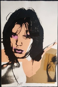 mick jagger f&s ii.141 by andy warhol