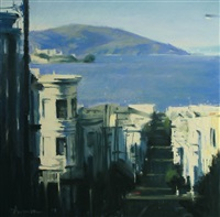 angel island from russian hill by ben aronson