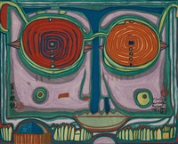 spectacles in the small face by friedensreich hundertwasser