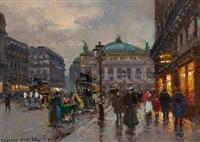 la place de l'opera by edouard léon cortès