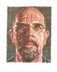 lot 41: self portrait by chuck close