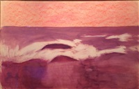 untitled (burgundy landscape) by milton avery