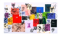 lot 42: paper faces by george condo