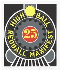 lot 166: highball on the redball manifest by robert indiana