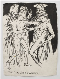 no title (christ at the) by raymond pettibon