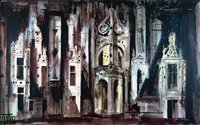 roof at chambord by john piper