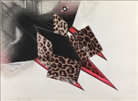 study for a leopardskin nuclear bomber by colin self