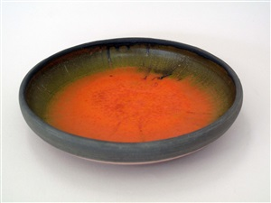 orange chrome plate by rose cabat