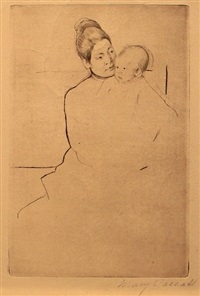 gardner held by his mother by mary cassatt