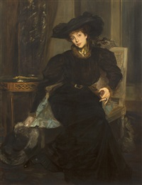 lady in black by jacques emile blanche