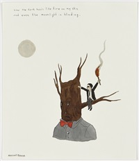 now the dark hair's like fire on my skin and even the moonlight is blinding by marcel dzama