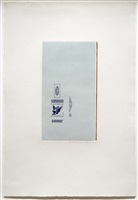 gauloises bleues (raw umber edge) by robert motherwell