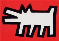 icons (b) - dog by keith haring