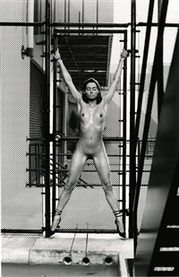 janet at modern props, los angeles by helmut newton