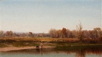 esopus creek, new york by jervis mcentee