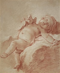 a putto by françois boucher