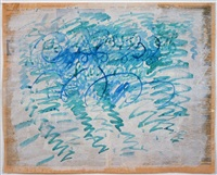 untitled (blue zig-zags) by paul thek