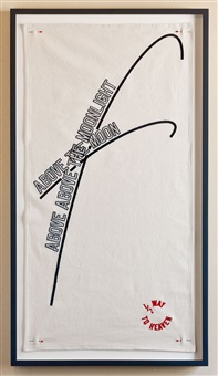 above above the moonlight by lawrence weiner