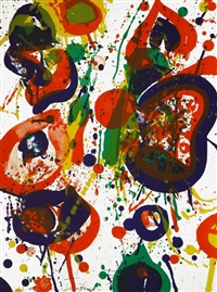 untitled, from the pasadena box by sam francis
