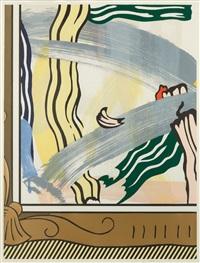 painting in gold frame by roy lichtenstein