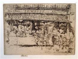 j.h. woods' fruit shop, chelsea by james abbott mcneill whistler