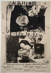poster for jewish museum by robert rauschenberg