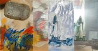 shuttle buttle/ roci usa (wax fire works) by robert rauschenberg