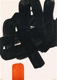 lithographie no. 24b by pierre soulages