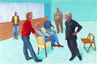 the group xiii, 4-9 august by david hockney