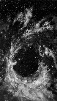 untitled (rosette nebula) by robert longo