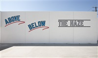 above below<br /> the haze by lawrence weiner