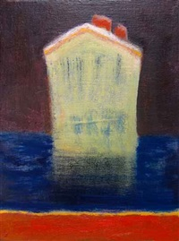 liner blue red sea by katherine bradford