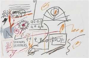 59 homers by jean-michel basquiat