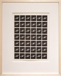 saturn stamps by vija celmins