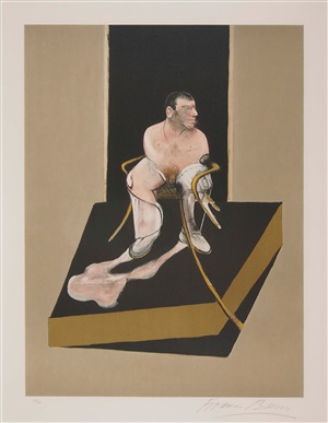 study for a portrait of john edwards from the triptych 1986-1987 by francis bacon