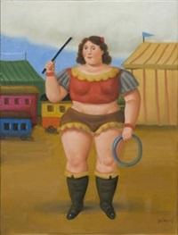 circus girl by fernando botero