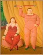 circus couple by fernando botero