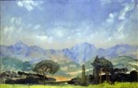 italian landscape by arthur bowen davies