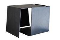 caja metafísica por conjunción de dos triedros. años 70 by jorge de oteiza