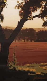 evening sun by julian opie