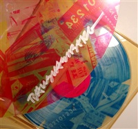 speaking in tongues (the talking heads record) by robert rauschenberg