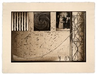 untitled (family photo in black) by jasper johns