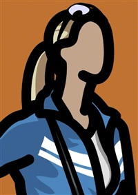 tourist with ponytail by julian opie