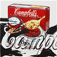 campbell's onion soup box by andy warhol